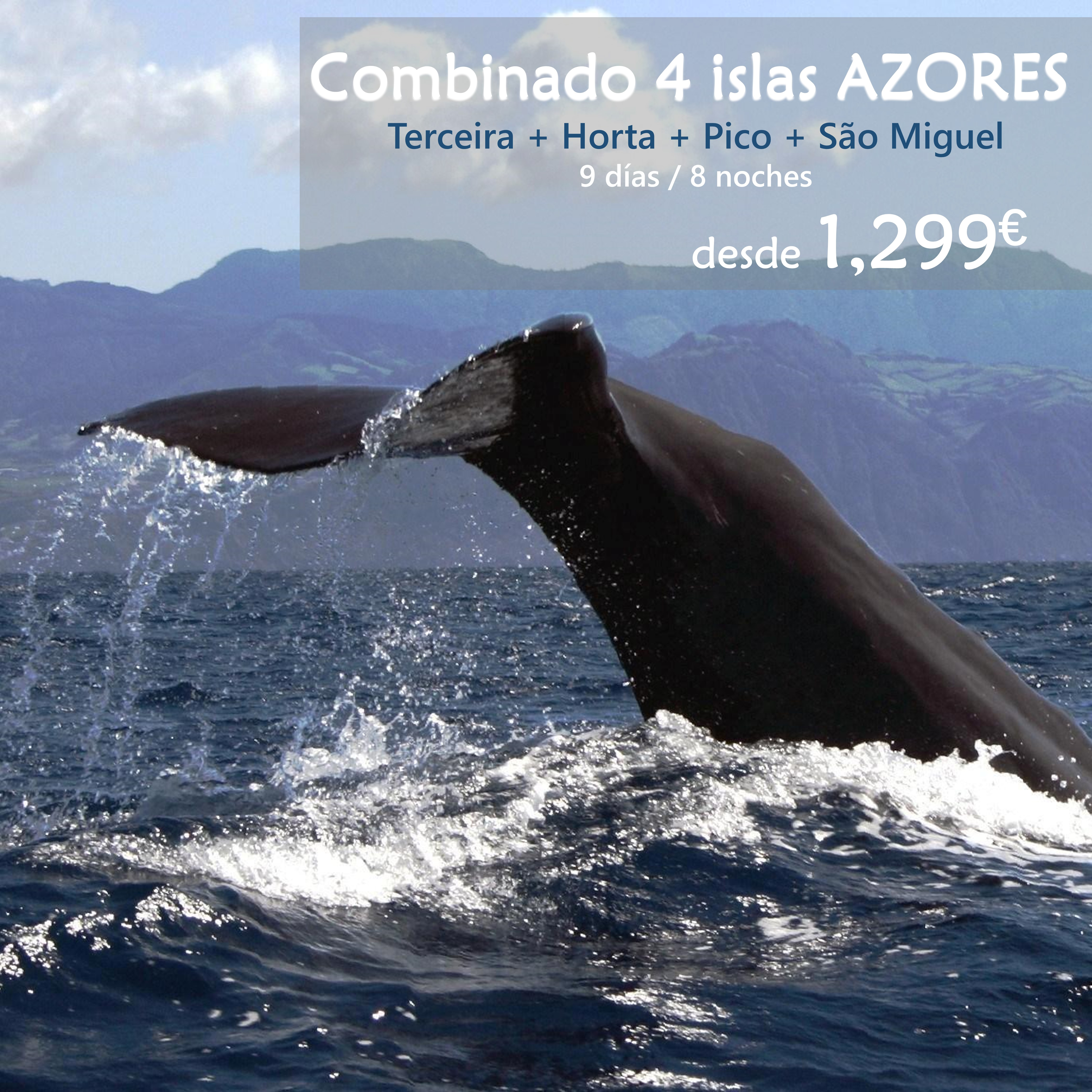 Combinado 4 islas Azores
